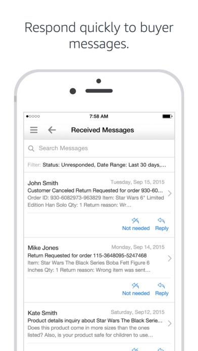 Amazon seller app Screen 2