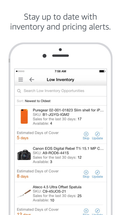 Amazon seller app Screen 3